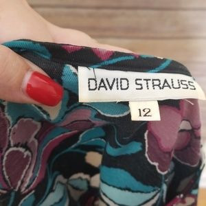 David Strauss Tops - Vintage blue & purple floral David Strauss 12 top